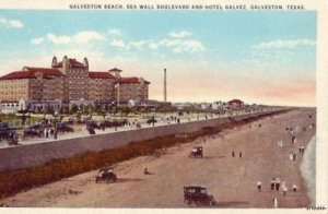GALVESTON, TX BEACH SEA WALL BLVD HOTEL GALVEZ