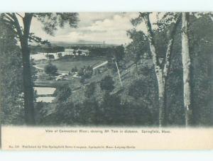 Unused Pre-1907 RIVER VIEW SCENE Springfield Massachusetts MA n5038