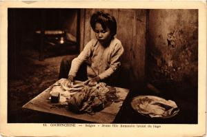 CPA VIETNAM SAIGON - Jeune fille Annamite lavant du linge (321285)