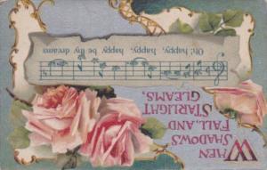 Song Card When Shadows Fall and Starlight Gleams 1910