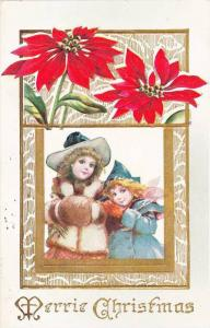 Merrie Christmas, Pinsetta, Girls in winter outfits, PU-1911