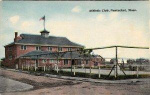 LPS31 Nantucket Massachusetts Athletic Club Postcard
