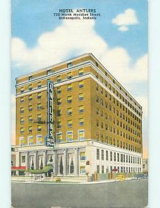 Linen OLD CARS & ANTLERS HOTEL Indianapolis Indiana IN t0490