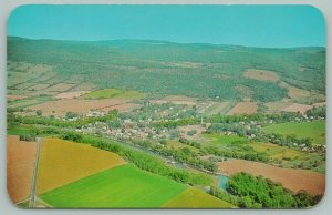 Middleburgh New York~Birdseye View Showing Schoharie Valley~Lots of Farms~1950s