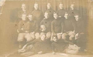 Fayette MO Central Methodist University Champion Football Team~Scores RPPC 1911