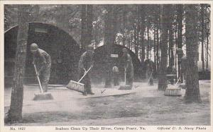 Virginia Camp Peary Navy Seabees Clean Up Their Hives