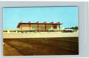Warwick RI-Rhode Island, New Air Terminal Building At Airport, Chrome Postcard