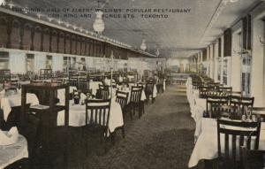 TORONTO, Ontario, Canada, 1911 ; Dining Hall