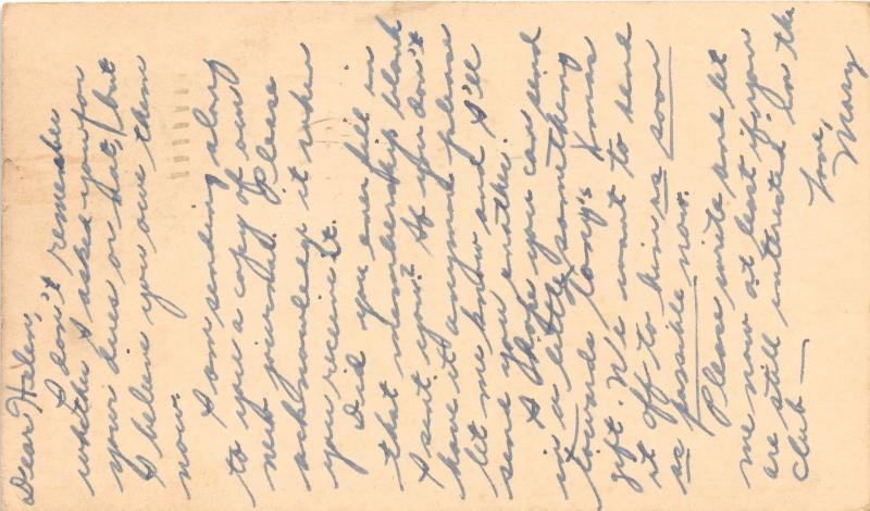 TONY MARTIN~AMERICAN POP CROONER~FAN CLUB HANDWRITTEN MESSAGE POSTCARD 1950s