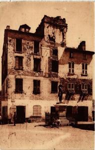 CPA CORSE Corte- Statue, Maison et Place Gaffory. (711524)