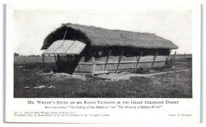 Early 1900s Harold Bell Wright Study, Ranch Tecolote, Colorado Desert Postcard