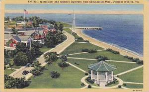 Virginia Fortress Monroe Waterfront And Officers Quarters From Chamberlin Hotel