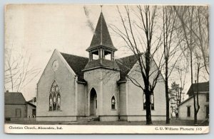 Alexandria Indiana~Christian Church~Stained Glass~Steeple~Homes~1908 CU Williams