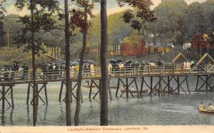 Litchfield-Hillsboro IL~Raining on Parade~Chautauqua Congregants~Footbridge 1910