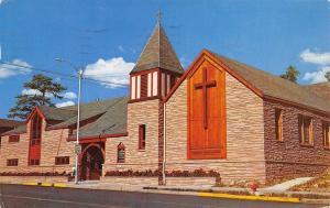 Estes Park Colorado~Community Church of the Rockies~Postcard 1959