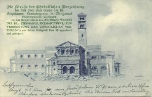 israel palestine, Church of Christian Forgiveness, Saint Stephen (1933) Stamp