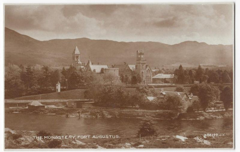 Invernesshire; The Monastery, Fort Augustus RP PPC, Unposted, c 1950's