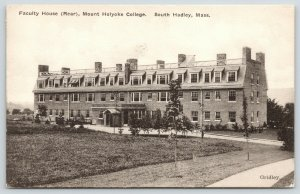 South Hadley MA~Mount Holyoke College~Rear of Faculty House~1920 B&W Albertype