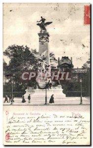 Old Postcard Monument Gambetta Paris