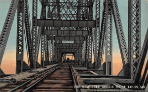 LP10 St. Louis  Missouri Postcard Free RR Bridge