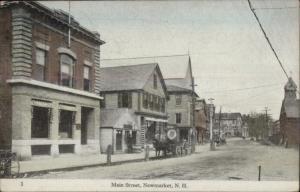 Newmarket NH Main Street c1910 Postcard