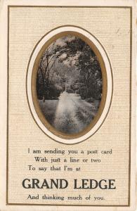Thinking Much of You in Grand Ledge Michigan~Lovers Lane~Poem~1910 Postcard