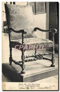 Old Postcard Musee des Arts Decorative Armchair