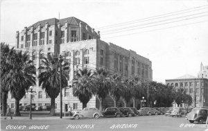 Automobiles Court House Phoenix Arizona 1940s RPPC Photo Postcard 20-1787