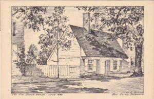 Delaware New Castle The Old Dutch House Circa 1690