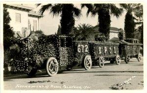 CA - Pasadena. Tournament of Roses Parade, BPOE 672 Float, 1921    *RPPC