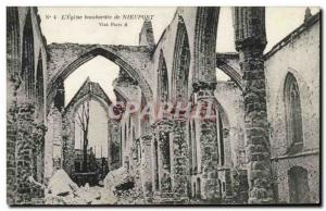 Old Postcard the & # 39eglise bombed Nieuwpoort