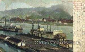 Mononghela River Ferry Boat, Ferries, Ship, Ships, Postcard Post Cards  Pitts...