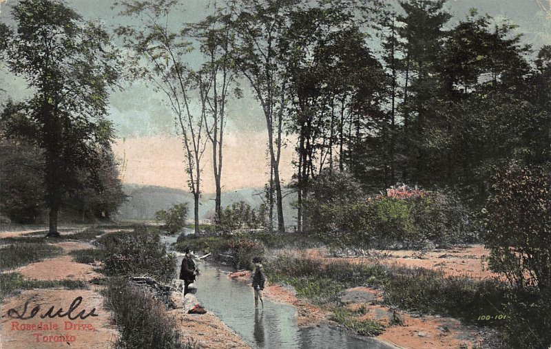 Rosedale Drive, Toronto, Ontario, Canada, Early Postcard, Used in 1907