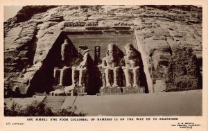Sudan Abu Simbel The Four Collossal of Ramses II RP Postcard