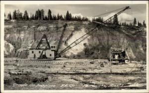 Fairbanks AK F.E. Co Gold Mining Equipment 1920s-30s Real Photo Postcard #1