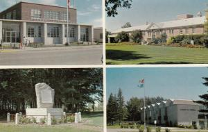 BROOKS , Alberta , Canada , 50-60s ; Post Office, Hospital, EID Cairn, County...