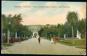 San Francisco Ca., Palm Avenue Sutro Heights (1908)