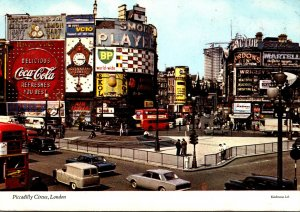England London Piccadilly Circus Coca Cola Sign