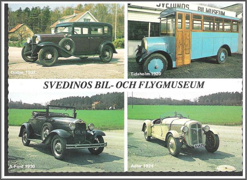 Sweden Car Museum Postcard