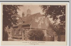 London; College Of St Nicholas, Chislehurst, Students Hostel PPC Unused