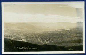 San Bernardino California ca Air View real photo postcard RPPC