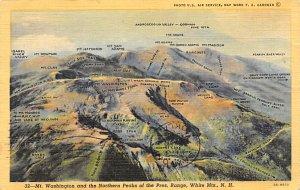 Maps Mt Washington and the Northern Peaks of the Pres. Range White Mountais, ...