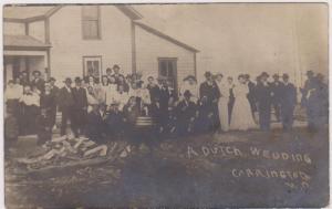 RP: A Dutch Wedding , CARRINGTON , North Dakota , 1911' Ver-2