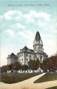 G33/ Colfax Washington Postcard c1910 Whitman County Court House