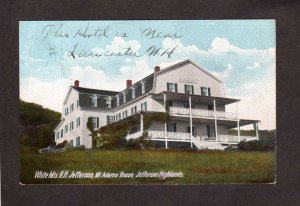 NH Mt Adams House Jefferson Highlands Nr Lancaster New Hampshire Postcard UDB