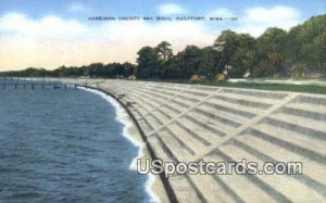 Harrison County Sea Wall in Gulfport, Mississippi