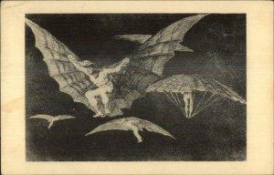 Goya The Bird-Men Fogg Art Museum Old Postcard