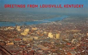 Louisville Kentucky~Aerial View Of Louisville~1960 Postcard