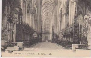 Interior View of Les Stalles, La Cathedrale, Amiens, Somme, France
