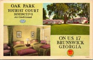 1954 Oak Park Tourist Court Interior Entrance Brunswick Georgia Ahrens 2009